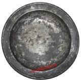 Early Pewter Bowl shaped Plate 10 1/4 diameter 1/4 tall