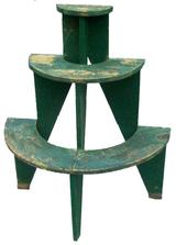 "R279 Plant Stand with the original green paint, circa1850  36"" tall x 31"" wide x 16"" deep"