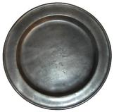 S482 18th century Pewter Charger 15""