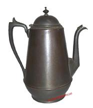 Coffee Pot tin and pewter dated 1862 signed B. E. Mannings