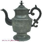 T25 American Pewter Coffee Pot, sign by Richardson of Boston, MA.1820 - 1830