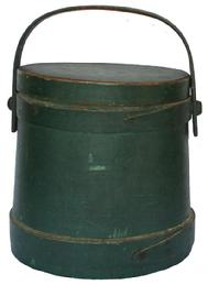 U206 New England Windsor green painted Firkin