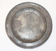 "Pewter plate 11"" maker marked Townsend"