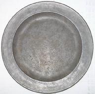 T116 18th Century Pewter Charger 13 1/2 diameter