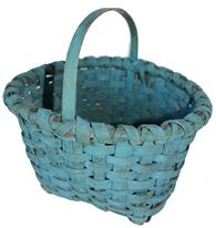 A11 Late 19th century Lancaster County  Pennslyvania Basket with the original paint, with a double wrapped rim.