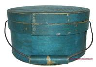 P348 Original blue painted Bail Handle pantry box