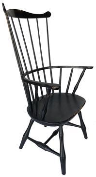 Furniture Chairs Beautiful 18th Century English Antique Comb Back Windsor Armchair Beautiful Burrwood Seat Large Assortment