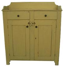 V298 Lancaster County Pennslyvania original painted Jelly Cupboard, applied dovetailed gallery, dovetailed drawers, nice high cut out foot, exception clean on the inside,  all original, small chip to the corner of one drawer, taller than the average Jelly Cupboard circa 1850 ---