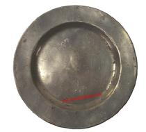 Early Pewter Plate 9 1/2 diameter