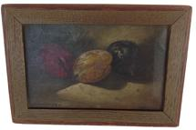 "A367   This is a great still life of plums small, 10"" by 7"".  Oil on canvas ,  by George William Whitaker"