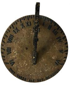 D164 19th century Sun Dial,made by Colonial Sun Dial A.H.Patch Clarksville Tenn made In the 1850s, the foundry specialized in iron stoves and grates