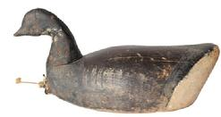 B324 Early hand carved Brant Decoy from Prince Edward Island, two piece head, with a hand chopped body , double rigged,the Decoy still retains most of the original paint circa 1920