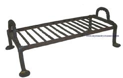 "JR2 18th Century  Griddle wrought iron American ,  with a padded feet, with twisted design. Measurements are: 14"" wide x 8"" deep x 5 1/4""tall"