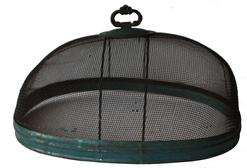 "D143 19th century  �shoo-fly� covers/ screens with the original blue paint, , helps protect food from flies and other pesky insects.  It retains its original knob. This is the large sixe to fit over a platter. Measurements are 12"" long x 9 3/4 x 5"" tall"