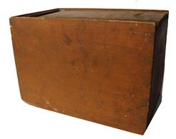 SB4 19th century  slide lid candle boxes, with the original dry mustard paint, dovetailed case with a nail  bottom,