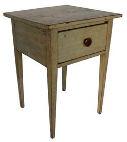 Z19 EARLY 19TH CENTURY  PENNSYLVANIA ORIGINAL  PAINTED HEPPLEWHITE ONE-DRAWER STAND.