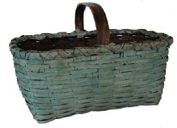 C49 Gathering basket with the original blue paint double wrapped rim steamed and bent and notched
