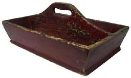X206 Mid 19th century Cutlery Tray, with early red paint