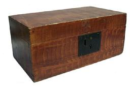 X314 19th century Paint decorated Document Box Beautiful and bold original paint decoration on this dovetailed document box
