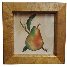 C99   Oil on velvet  large Pear Theorem  by Betsy Kfley Salm