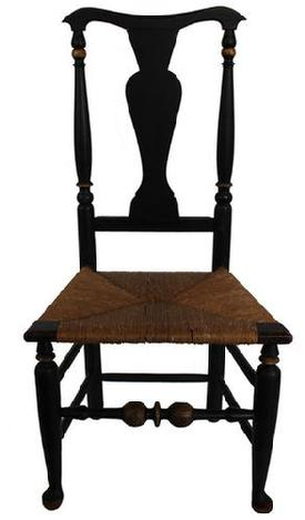 This outstanding Queen Anne Hudson Valley, New York ( Circa 1730-1750) Bannister back side chair fabulous proportion features a yoke-crest rail above turned and tapered rear post beautiful ambitiously turned front posts.