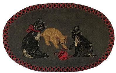 Farmhouse Decor Hooked Rug 1889 Black Cat Beaconhillcollect Farmhouse Decor