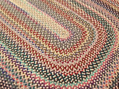 A169 This Is A Beautiful Very Large Room Size Handmade Braided Rug It Was Made From Wool By Hand Braiding And Lacing The Well With