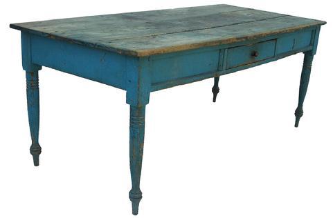 La2 Early 19th Century 1820 S Pennslyvania Original Blue
